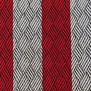 Carmen Miron – Patron no 380 du livre A weaver's book of 8-shaft patterns -  Plaited twills (sergé tressé) de Marjorie Sweigart tissé sur 8 cadres, en coton